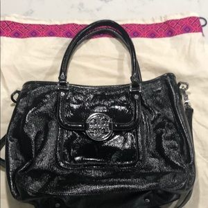Tory Tote with Silver hardware